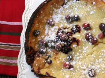 Cranberry Dutch Baby