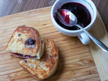 Blackberry Jam Grilled Cheese