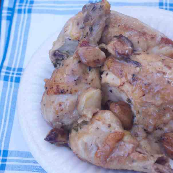 forty clove garlic chicken