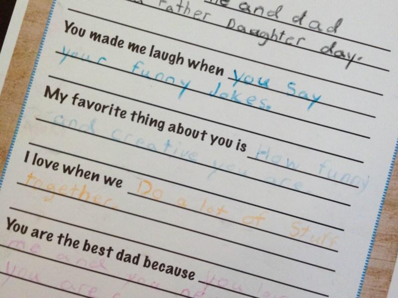 dear dad printable