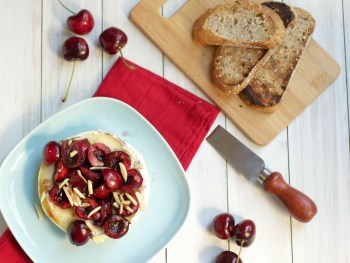 Recipe: Grilled Cherry Almond Brie