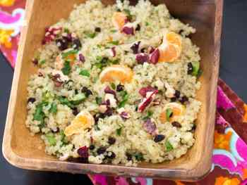 Cooking For One: Lemon Cinnamon Quinoa Salad