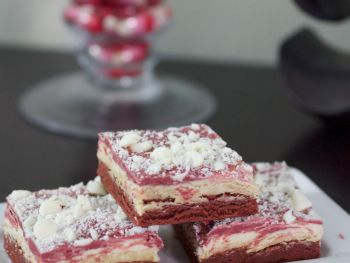 Red Velvet White Chocolate Truffle Brownies