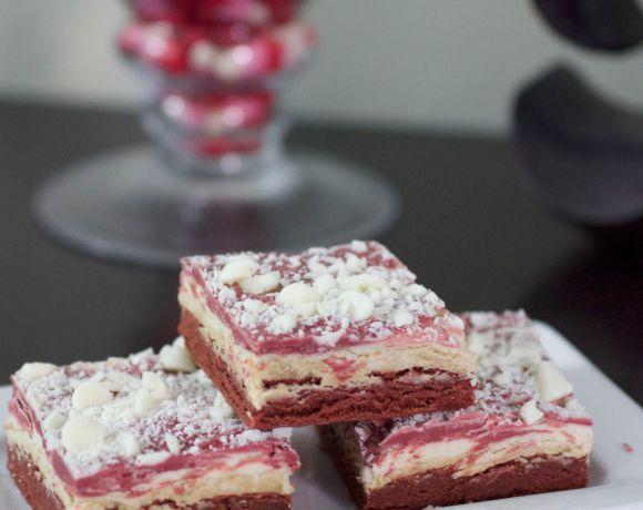 Red Velvet White Chocolate Truffle Brownies