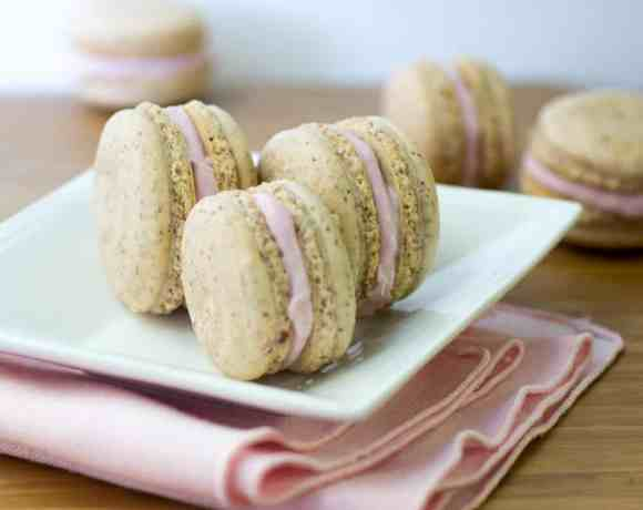 Vanilla Bean and Raspberry Macarons