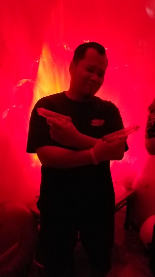 Adrian striking his gangsta pose