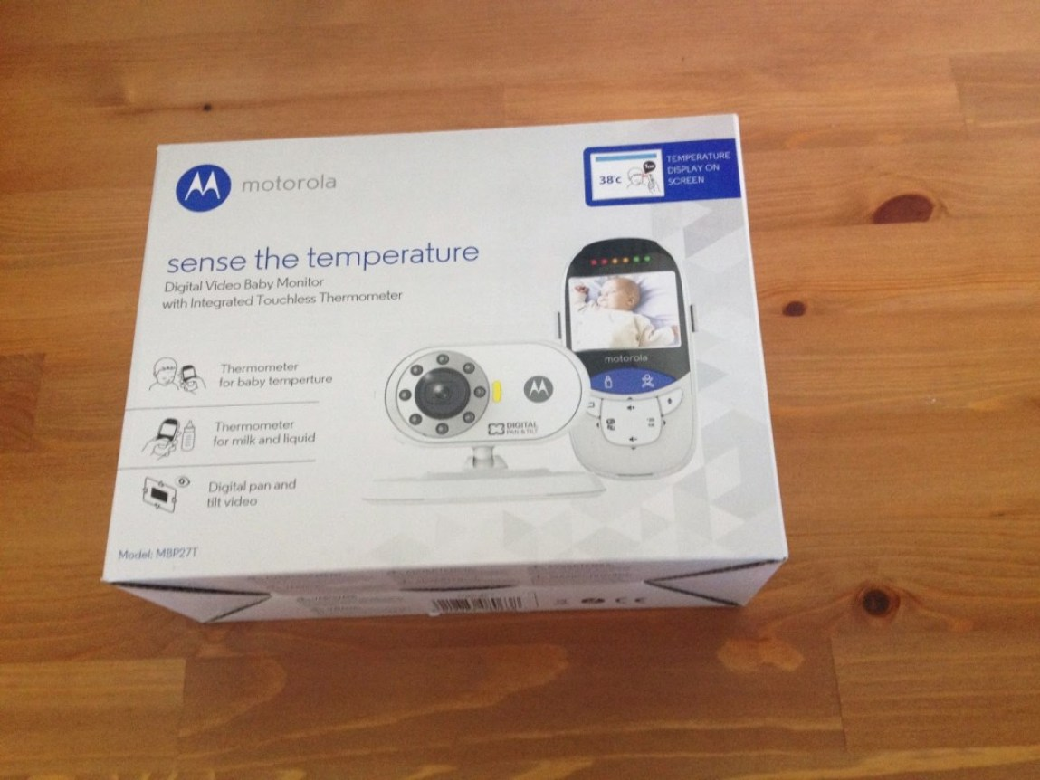 Motorola MBP27T Sense The Temperature Digital Video Baby Monitor