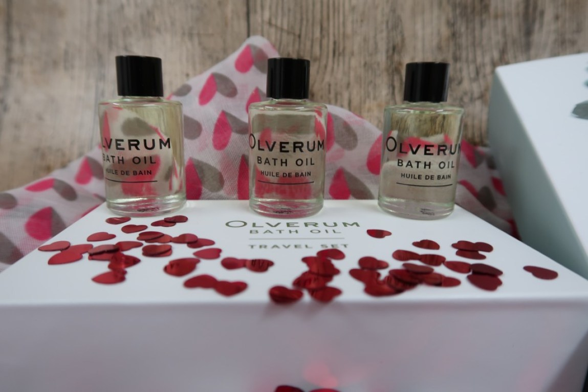 3 small bottles of Olverum bath oil