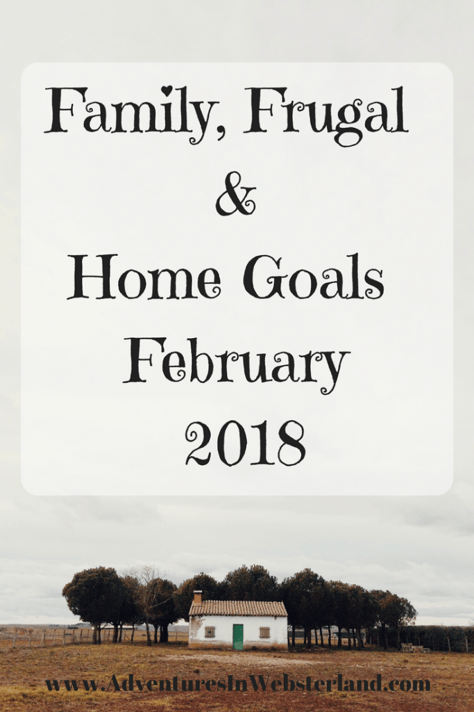 Family, Frugal & Home Goals For February 2018