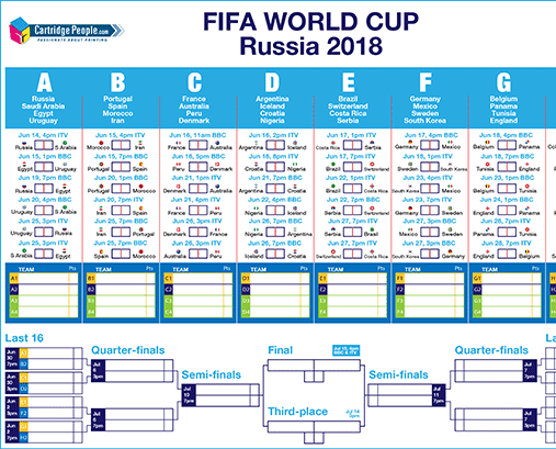 Download Your Free World Cup Wall Planner