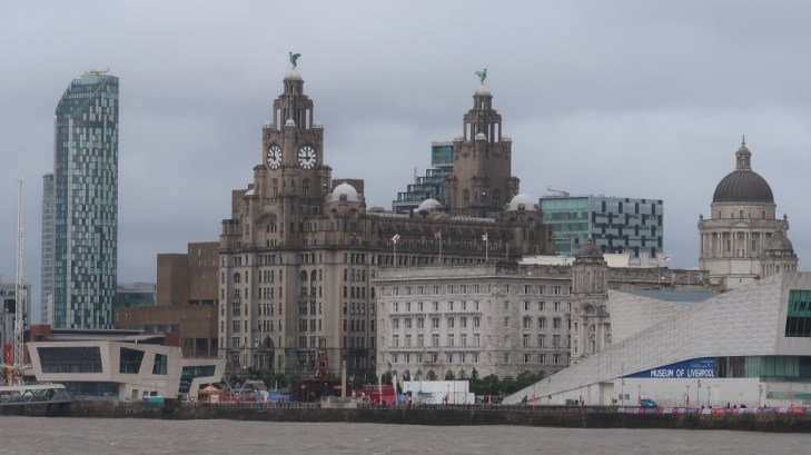 the liver bulding as seen from mersey ferry snowdrop