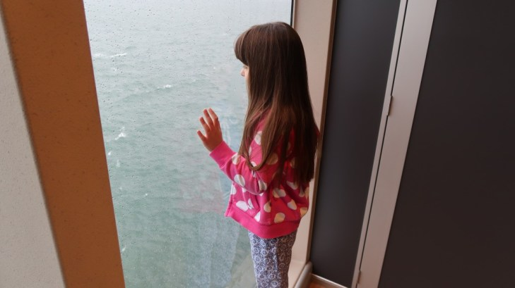 girl looking out to sea The Condor Liberation condor ferries