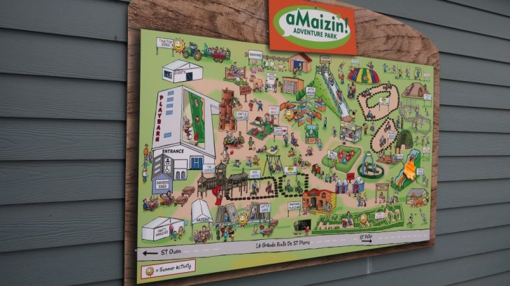 Map of aMaizin! adventure park jersey