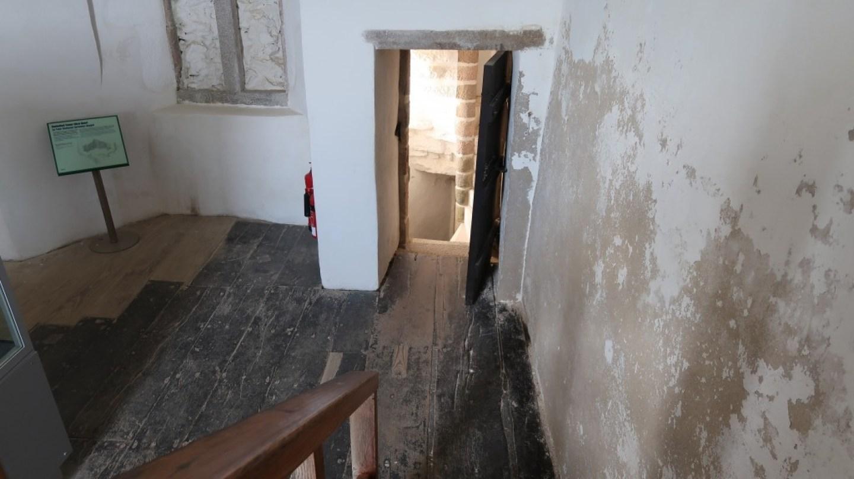 secret room at Mont Orgueil Castle Jersey