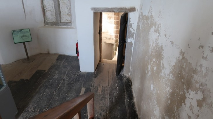 secret room at Mont Orgueil Castle Jersey