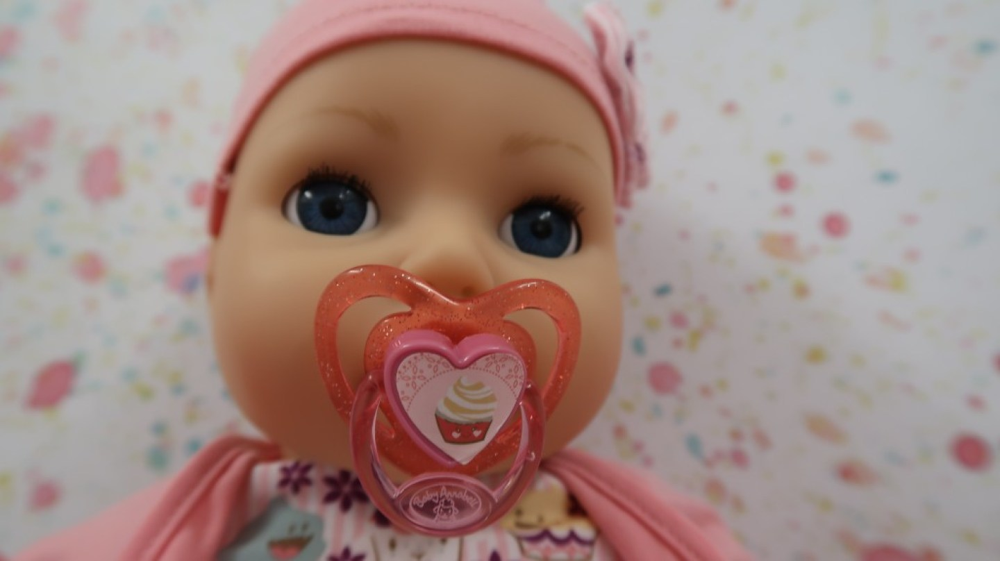 close up of Baby Annabell My Special Day face