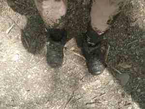 mud and boots