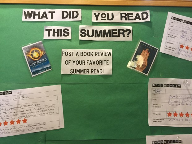 What did you read this summer? Passive program/interactive display.