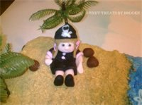 Pirate Girl - This was my first fondant figurine.