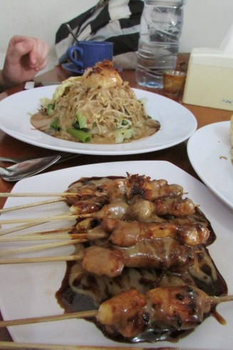 Gado Gado and chicken satay.