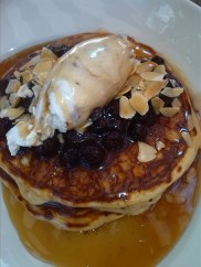 The Trunk's melt in your mouth Blueberry Pancakes