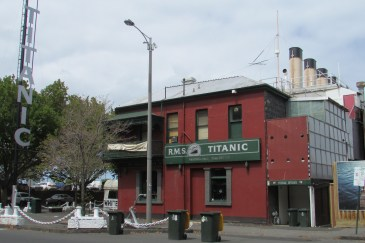 A local pub which has embraced the Titanic theme complete with promenade deck and steerage and first class entrances