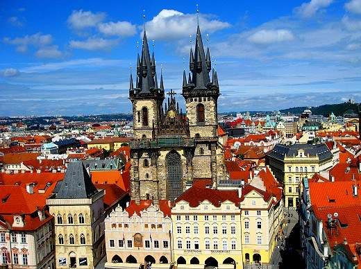 Tyne Church in Prague's Old Town Square - From GypsyNester