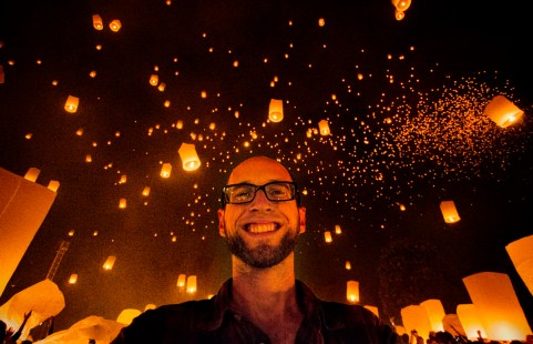 Me Surrounded by Yi Ping Lanterns