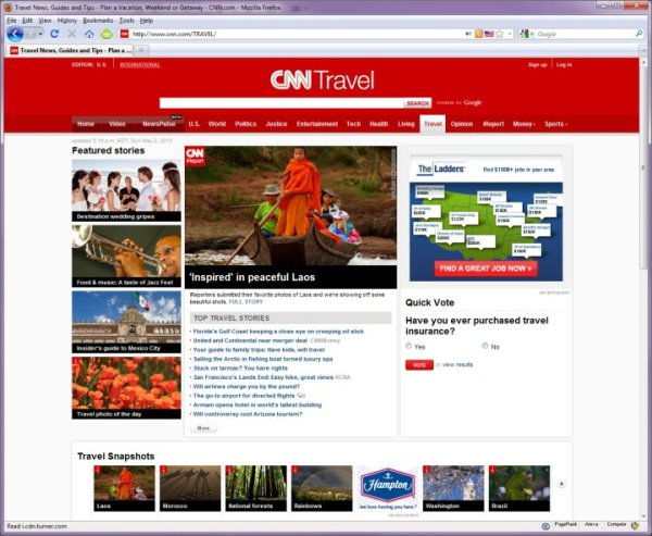 My Mekong Monk photograph on the front page of CNN Travel