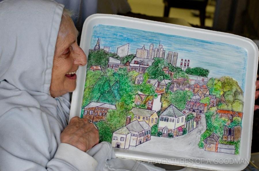 Aunt Joan and her amazing styrofoam tray art