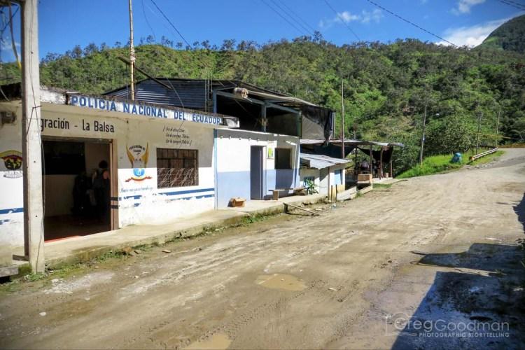 The Ecuador Migration office in La Balsa
