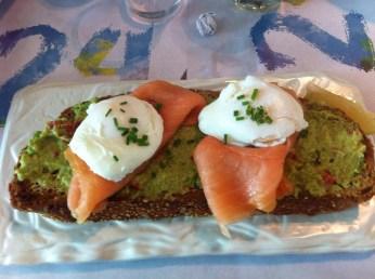 Avo, salmon and eggs