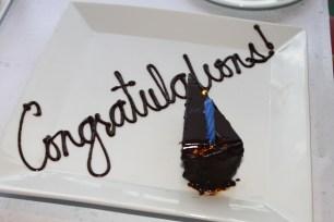 Complimentary Chocolate Flourless cake