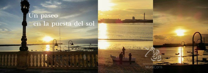 walk in the sunset on new years eve, cadiz