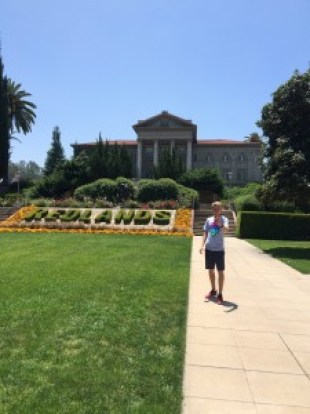 Taking a selfie at University of Redlands.  This was a nice campus, but didn't really spark a lot of interest in Big Boy.