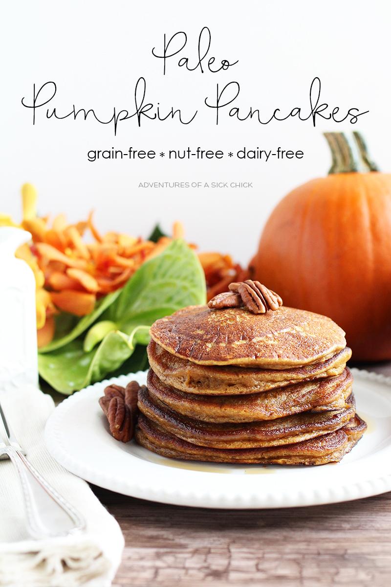 Paleo Pumpkin Pancakes Made with Cassava Flour