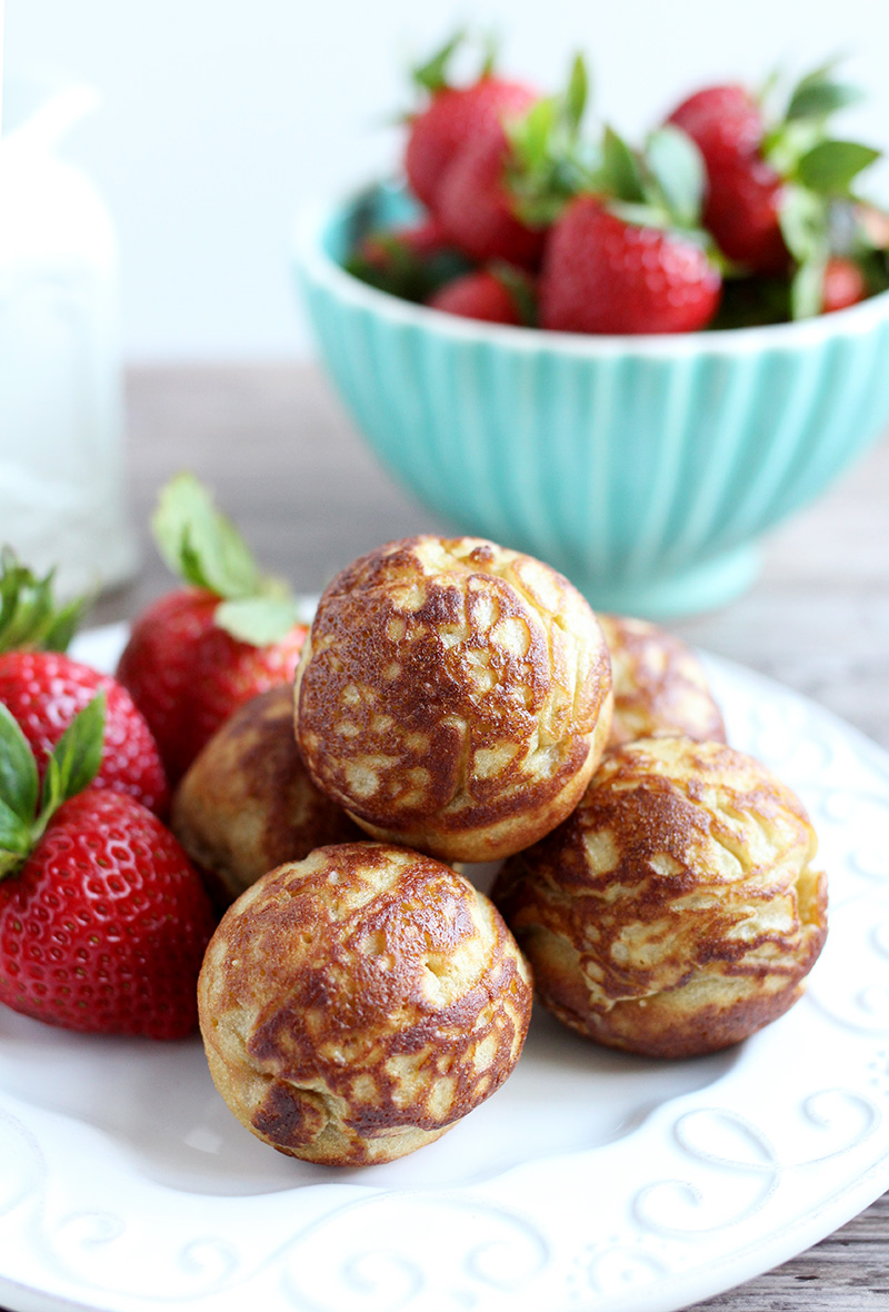 A recipe for Paleo Aebleskiver made with cassava flour: nut-free, grain-free, dairy-free, and refined sugar-free.