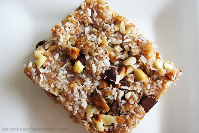 No-Bake, Raw Paleo Granola Bars