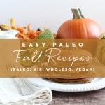 Easy Paleo Fall Recipes: Paleo, AIP, Whole30, vegan