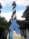 Blue bear at St Augustine lighthouse