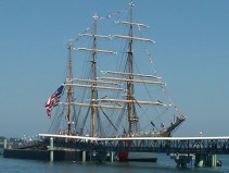 Ready to board, USS barque Eagle, Tall Ships festival, Portland,Maine