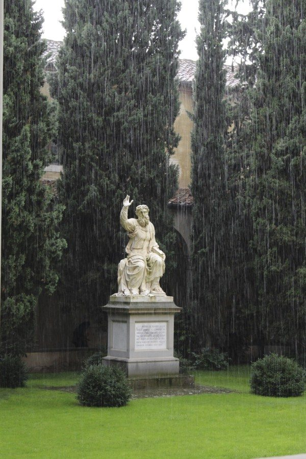 Baccio Bandinelli in the gardens of Santa Croce