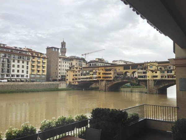 A visit to Florence - The view from Hotel Lungarno