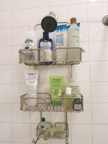 Shower caddy goodies