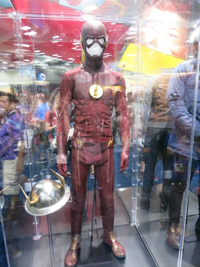 Grant Gustin's costume from The Flash