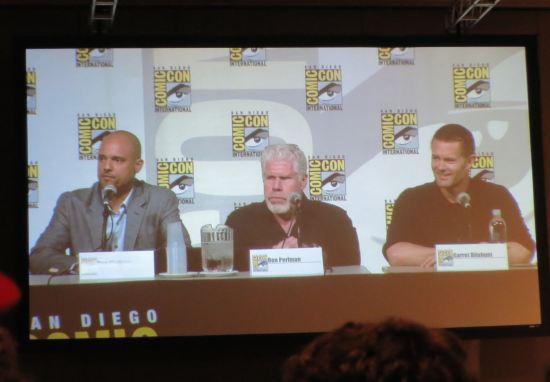 Showrunner Ben Watkins, Ron Perlman, Garret Dillahunt
