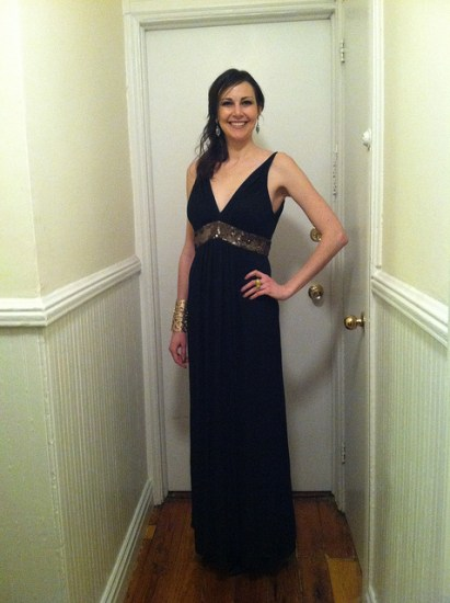 Robert Rodriguez Black Label Sequin Trim Empire Gown - Rent the Runway
