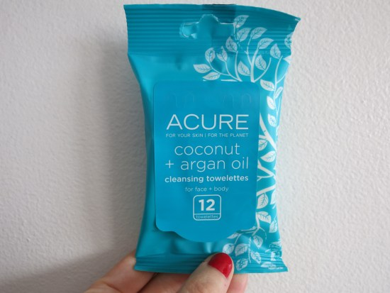 Acure Organics Coconut & Argan Oil Cleansing Towelettes | Birchbox sample