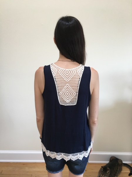 Papermoon Lonni Crochet Back Knit Tank