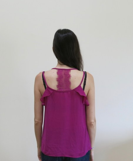 Skies are Blue Fischer Lace Detail Blouse back detail | Stitch Fix